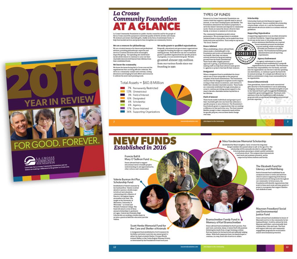 2016 Annual Report for the La Crosse Community Foundation